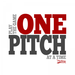Baseball Quote, Baseball Motivation, Sport Quote, Play the Game One Pitch at a Time